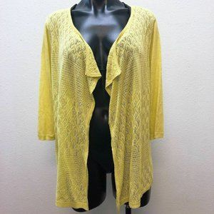*Investments Lime Hi-Low Knit Cardigan Large